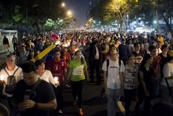 Las calles de Caracas lucían repletas de manifestantes.