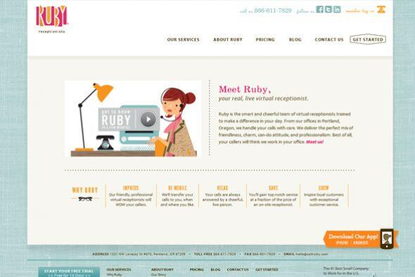 3. Ruby Receptionists  Industria: Telecomunicaciones.  Número de emplead...