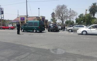 El tiroteo se registró en la calle South Vermont en el sur de Los Ángeles.