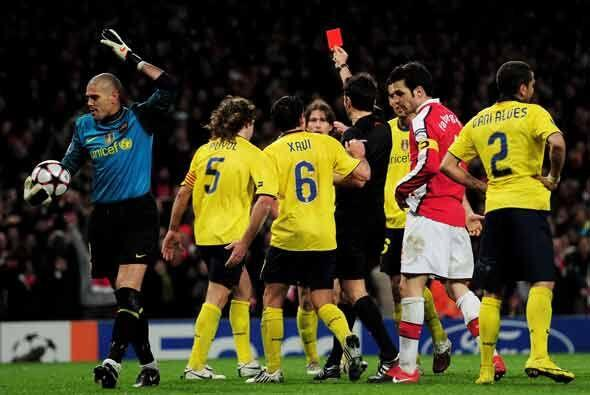 A falta de cinco minutos para que concluyera el duelo, Carles Puyol fue...