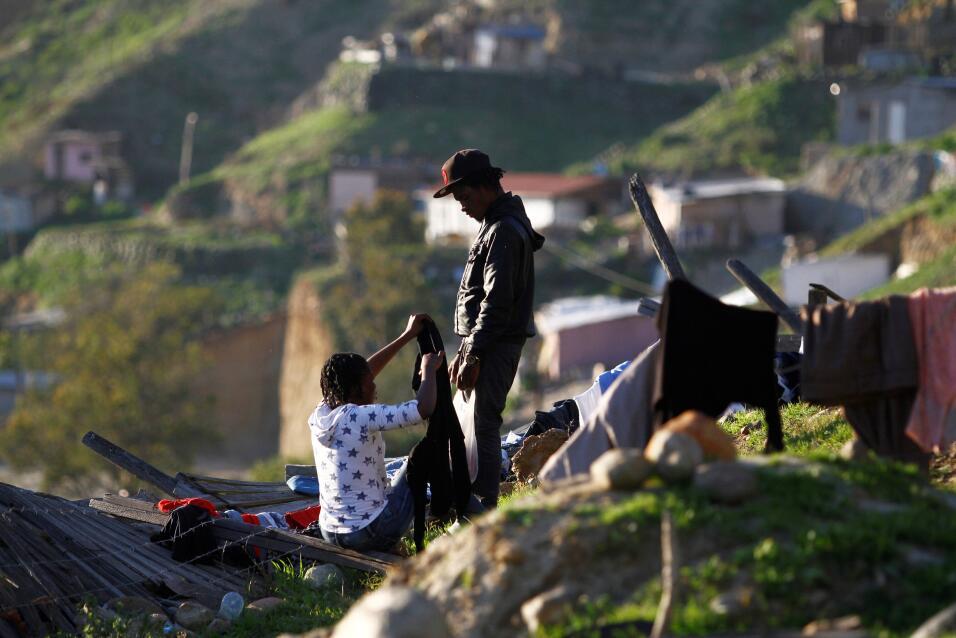 Haitianos en la frontera