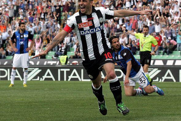 Ya en la delantera, empezamos con el atacante italiano Antonio Di Natale.