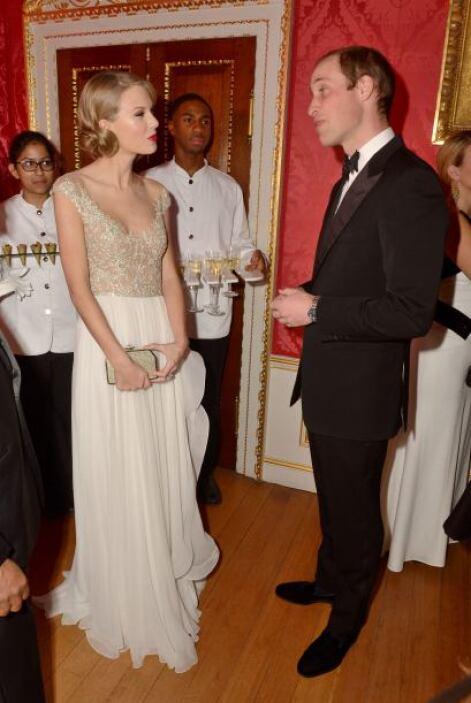 Taylor Swift conoció al Príncipe William. ¿Habrá conseguido inspiración...