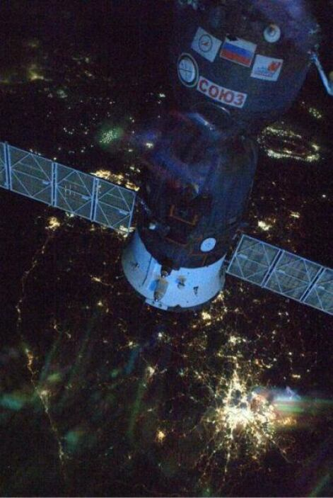 Nuestro Soyuz sobre Corea del Sur  Fotos: @astro_reid