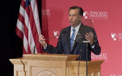 Mitt Romney durante su discurso en marzo.