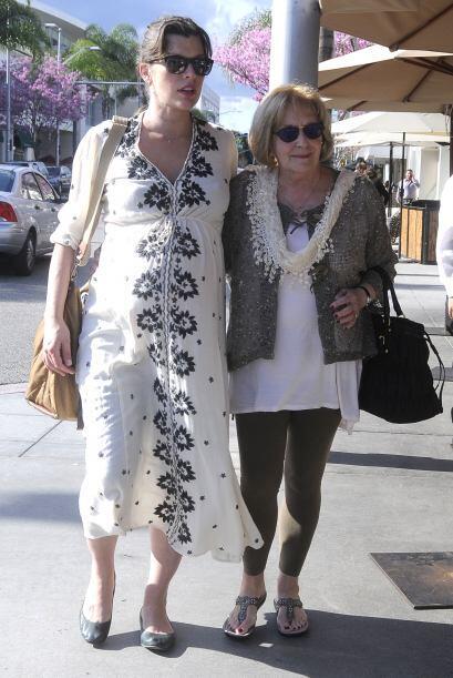La famosa y su mami tienen una relación muy cercana.