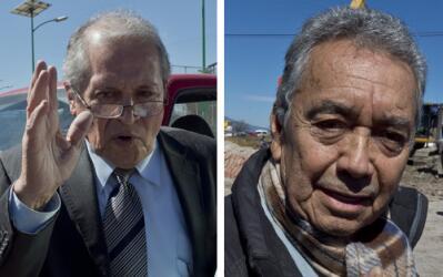 Los abogados Juan Pablo Badillo Soto y José Luis González Meza.