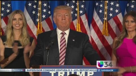 Partidarios manifiestan apoyo a Trump tras primarias