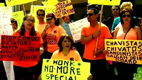 Propietarios en condominios protestaron en Miami-Dade contra presuntos f...