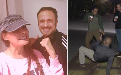 Johnny aprendió la rutina de Galilea Montijo y Kate del Castillo