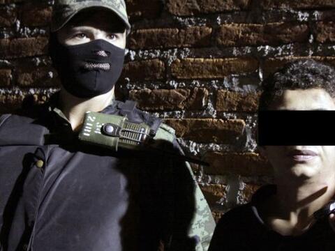 """Edgar, """"El Ponchis"""" es un niño de 14 años capturado este viernes por las..."""