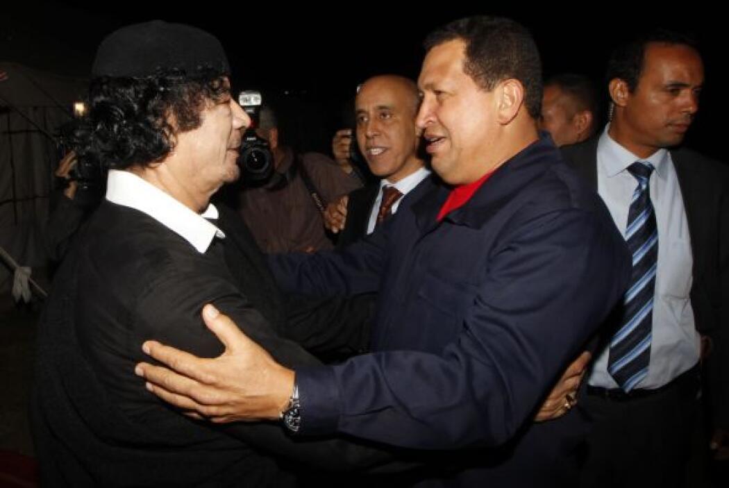 Muamar Gadafi. El ex hombre fuerte de Libia fue otro de los líderes a lo...
