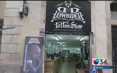 El arte gráfico chicano llega a Europa en forma de tatuaje