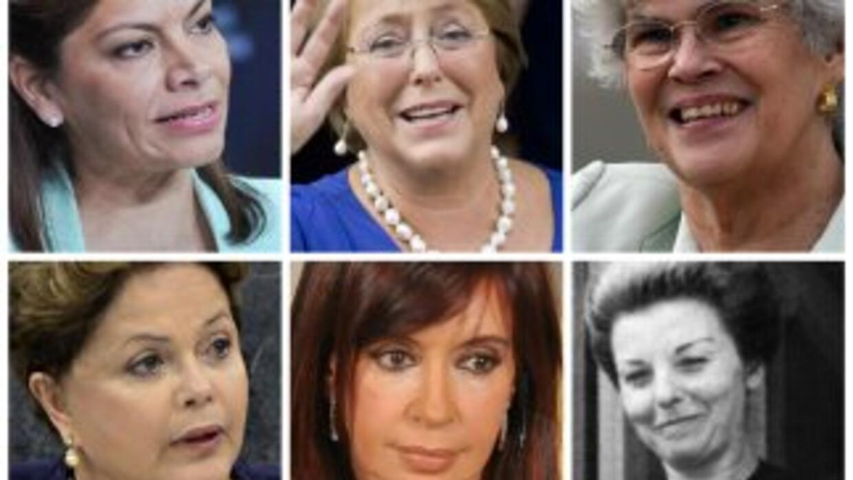 Laura Chinchilla, Michelle Bachelet, Violeta Chamorro, Isabel Fernández...