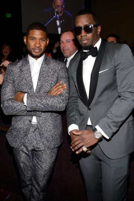 Y después Usher se puso serio cuando llegó con P. Diddy. Por cierto esta...