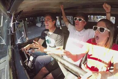 Roger, Fer y Danilo visitaron 'La capital mundial del entretenimiento',...