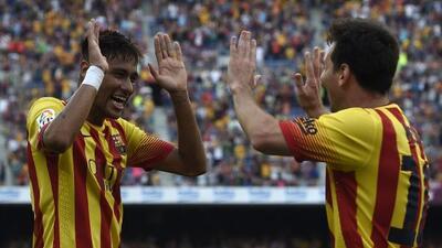 La pareja de cracks azulgranas se asociaron para que el Barcelona derrot...