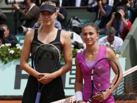Maria Sharapova de Rusia se medía a Sara Errani de Italia en busc...