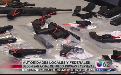 Operativo especial culmina en el decomiso de armas, drogas y cervezas