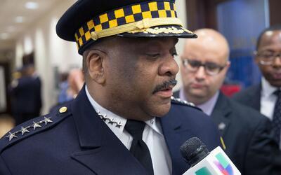 """Eddie Johnson sobre agentes de ICE que usan rótulo de la policía: """"No he..."""
