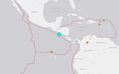 El epicentro del sismo ocurrió en frente de Usulután, en l...