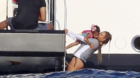 Beyoncé y Jay-Z disfrutan de sus vacaciones en Italia.