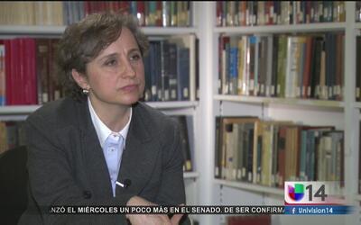 """""""Es tiempo de echarse para adelante"""", afirma Carmen Aristegui sobre las..."""