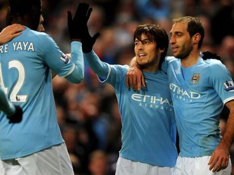 Manchester City le ganó un partido duro al Wigan por 1 a 0.