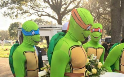 For the funeral of King Carter, Feb 27, pall bearers wore ninja turtle c...