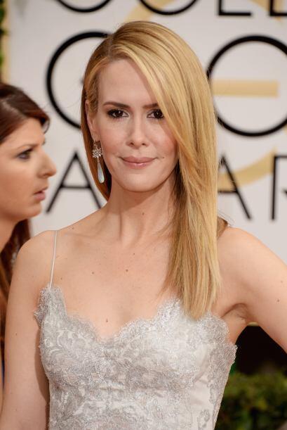 Por el contrario, la actriz Sarah Paulson prefirió dejar su bella melena...