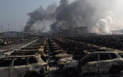 Dantesco panorama por gran explosión en China