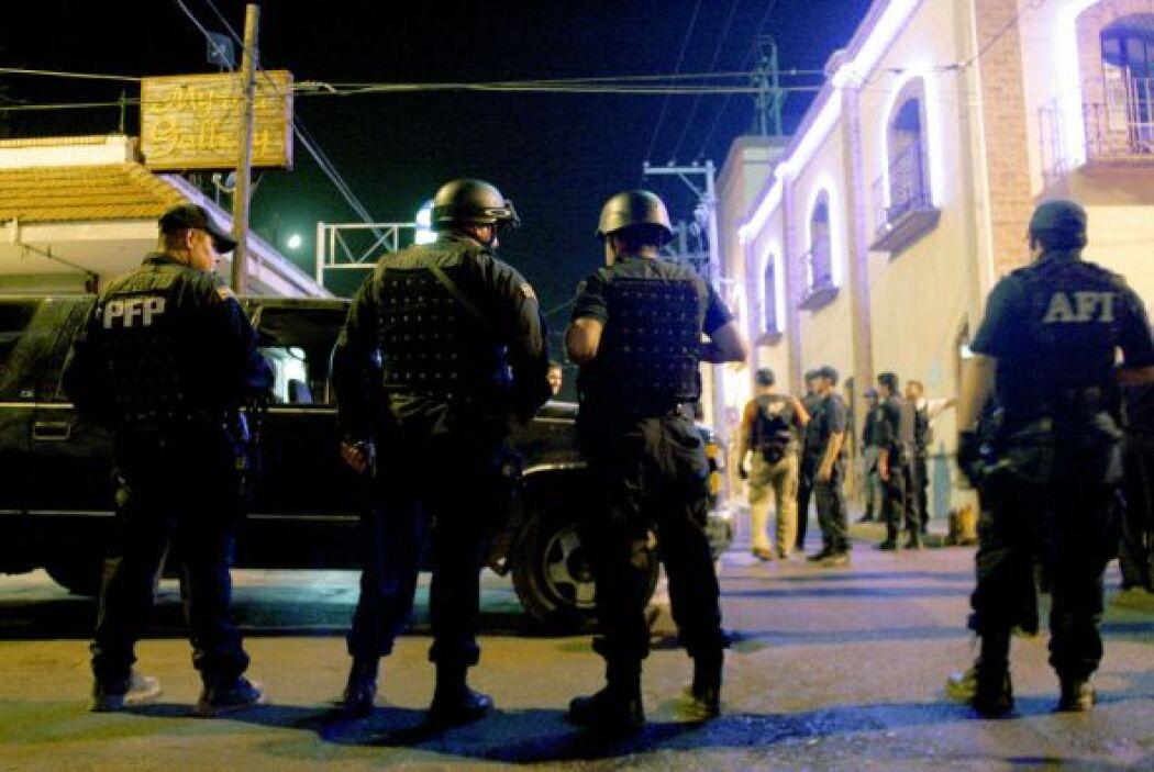 El ejército mexicano, la policía Federal y la Marina han reforzado la se...