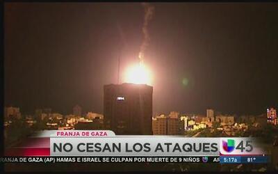 No cesan los ataques en Gaza