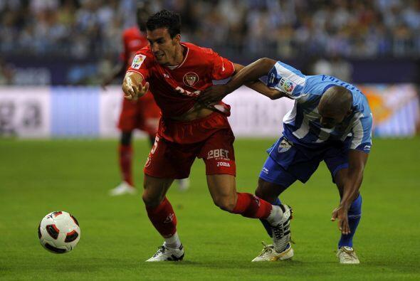 En otro duelo, el Sevilla visitó el estadio del Málaga.