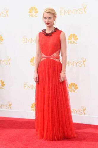 Givenchy fue la marca encargada de ponerle los ojos a Claire Danes, la v...