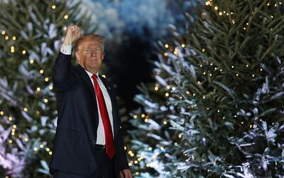 El presidente electo Donald Trump durante su 'Gira de agradecimiento' en...