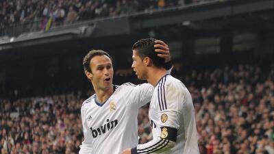 Carvalho y Cristiano Ronaldo cuando jugaban juntos en el Real Madrid