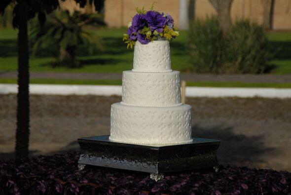 El pastel era una belleza y sirvió de decoración, al menos por ese día,...