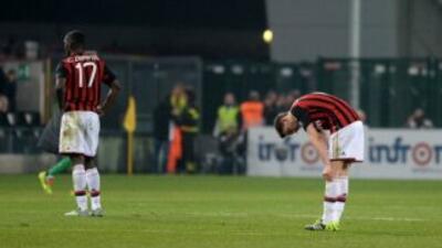 El Milan recibió su décima derrota de la temporada.
