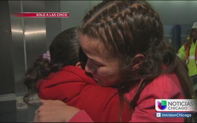 Emotiva reunificación de familia hondureña