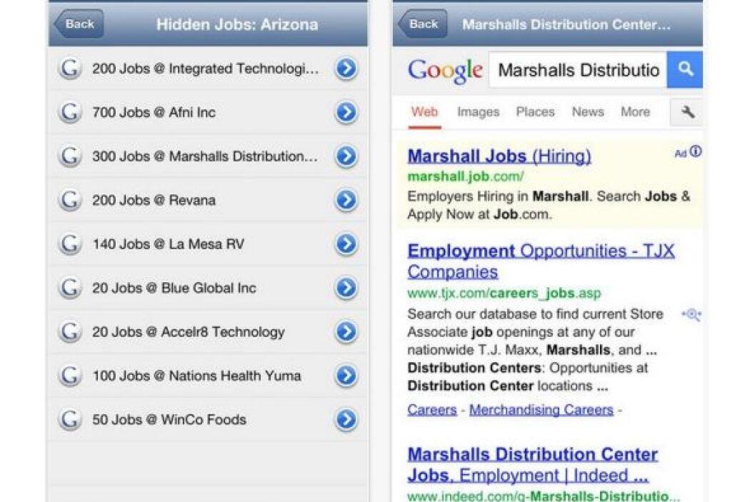 Hidden Jobs: Esta aplicación única para iOs tiene un módico costo de $.9...