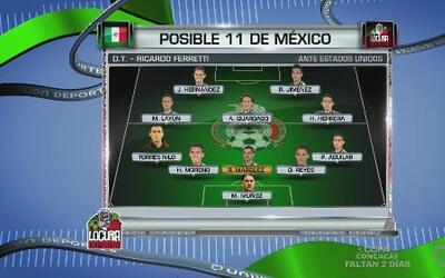 Posible 11 de México ante Estados Unidos