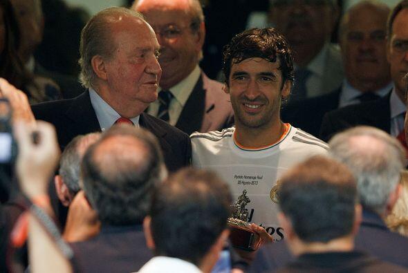 Raúl también fue recibido por el Rey Juan Carlos.