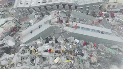 El sur de Taiwán destruído tras terremoto