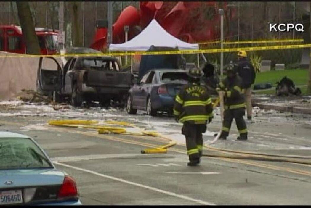 Helicóptero se estrelló en Seattle, Washington