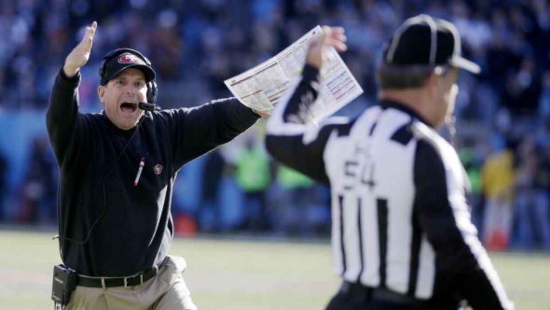 Jim Harbaugh ha llevado a sus 49ers al Juego de Campeonato de la NFC en...