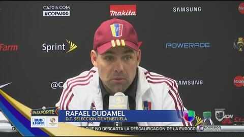 """""""La presión la tiene México"""": Rafael Dudamel"""