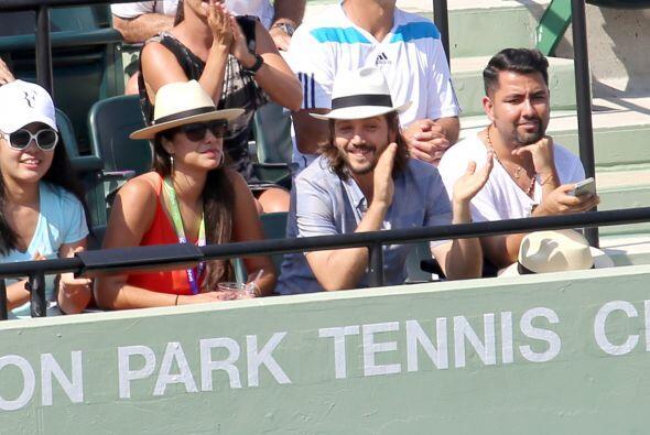 La pareja se dejó ver junta en un partido de tenis del Abierto de...