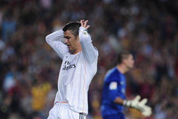 Cristiano Ronaldo falló una buena oportunidad.