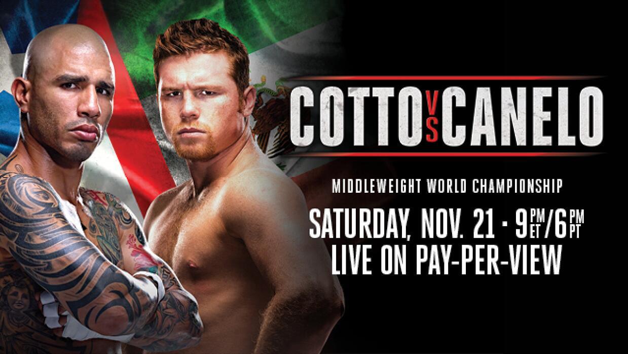 Migul Cotto y 'Canelo' Alvarez se enfrentan en Las Vegas.